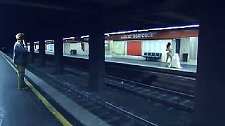 Deborah Cali does strip dance in metro showing us her bush