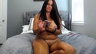 Brunette with big boobs and perky nipples fucks