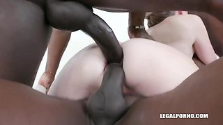 Rebel Ryder is getting fisted and enjoying it and then getting doublefucked by black guys