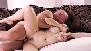 Old white guys gangbang Rough orgy for spectacular latina