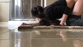 Maid with owner alone at home