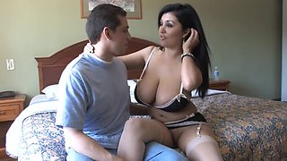 Buxom Latina maid satisfies every wish of her boss