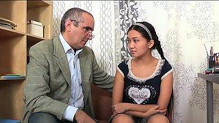 Insatiable russian maiden gets hard core treatment