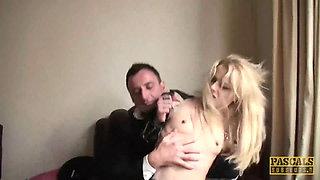 PASCALSSUBSLUTS - Skinny Blonde Sub April Paisley Dominated