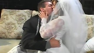 Lovely bride fucks the best man after the big day