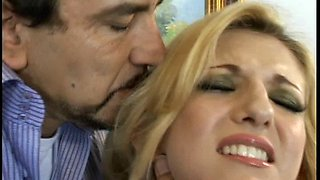 Balls deep pussy and ass drilling for cheating wife Vivian West