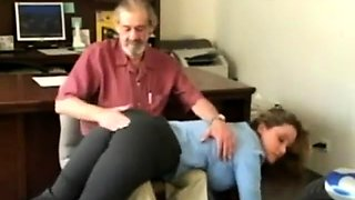 Euro hardcore video with masturbation and spanking