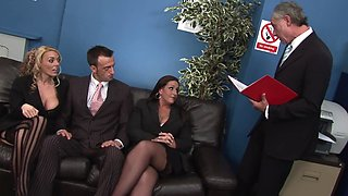 Two broads share and swap their men in crazy foursome