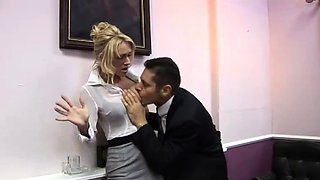 Fully clothed secretary