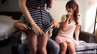two lucky dudes swap their girlfriends to fuck them side by side