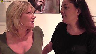 Two British Milfs have hot lesbian sex