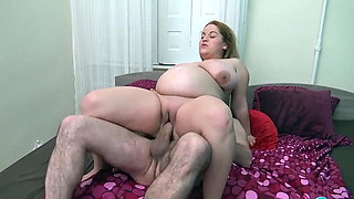 BBW Big Tits Mature Preggo fucked well Cowgirl Doggy and Cum