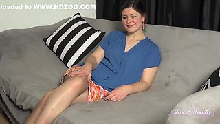 Movie Night With Aurora In Her Pantyhose