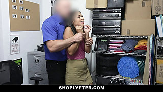 ShopLtfter Latina Teen Caught Stealing Gets Punished With Hard Rough Sex