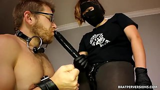 Kinky strapon sex by hot doms