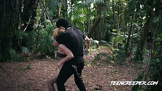 Some wild outdoor sex with slender real bitch called Raylin Ann