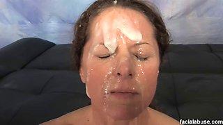 Facial abuse 144 melanie