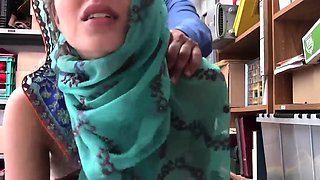Office elevator sex Hijab-Wearing Arab Teen Harassed For