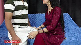 Priya requests her devar to show his cock with Hindi audio