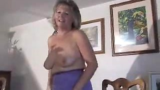 Delightful Granny In Girdle And Seamed Nylons