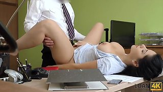 Loan4k. naughty agent tells adorable girl that she cant get