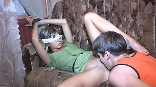 Petite teen girl gets rammed in a cuckold scene