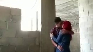 Hijabi girl fucks her bf outdoor
