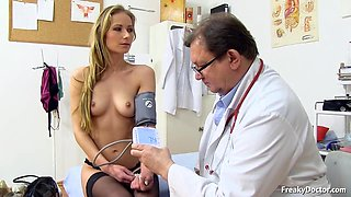 Doctor Takes Care Of Her Vagina - Pink Slit