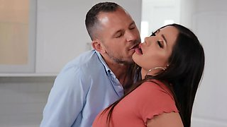 Man and Latina are divorced still anal passion lives in them