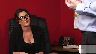British CFNM office voyeur enjoys wanking session
