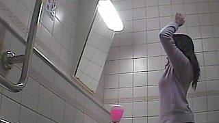Toilet spy camera shot beautiful amateur asses close up