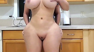 Big ass maid gets fucked in kitchen