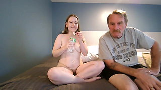 Older father fucks his young daughter on camera