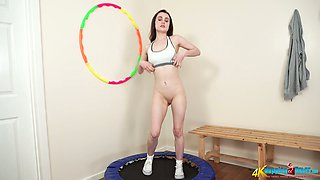 Alone sporty girl Lola Rae is ready for some titties flashing