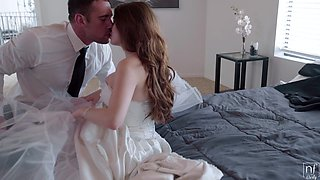 Busty bride Veronica Vain gets fucked by her dirty lover. HD