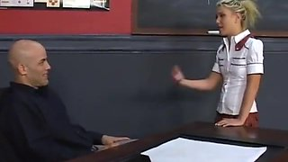 School girl handjob