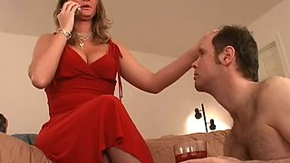 Mitress Nicolette punishing her chastity slave