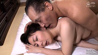 Sexy Japanese housewife gets her pussy tongued and drilled