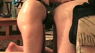 MILF fucked her spouse with a strapon